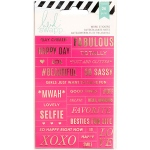 American Crafts - Heidi Swapp - Stickers - Word Jumbles - Pink/Gold