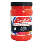 Speedball® Acrylic Screen Printing Ink Dark Red 32oz.: Red/Pink, Jar, Acrylic, 32 oz, Screen Printing, (model 4647), price per each