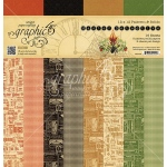 Graphic 45 - Master Detective - 12x12 Patterns & Solids Pad - 16 sheets