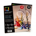 Uart Premium Sanded Pastel Paper Pad with Glassine: 9 x 12, Grade #400, Pack of 10 Sheets