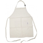 Heritage Arts™ Standard Adult Extra Large Adult Natural Canvas Artist Apron: White/Ivory, Canvas, Adult, (model CAP2536), price per each