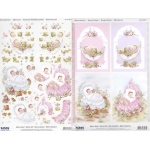 3D Precut - (2 Sheets)& Image page Baby & Birth