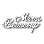 Cutting Die - Merci Beaucoup (set of 2 dies)