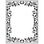 Creative Expressions Embossing Folder  - Holly Vine Frame