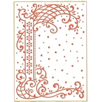 Embossing folder - Anja's decorative border