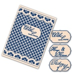 Tattered Lace Interchangeable Embossing Folder - Lacy Grid