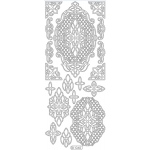 Deco Stickers - Ornate Lattice Designs: Silver