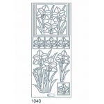 Deco Stickers - Lilies: Silver
