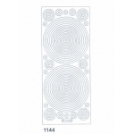 Deco Stickers - Geometrical Shapes circles: Transparent Glitter Silver