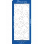 Deco Stickers - Playing Card Shapes: Transparent Glitter Silver