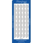 Deco Stickers - Large Lace Ribbon Border: Silver