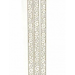 Deco Stickers - Curly Ribbon: Silver