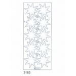 Deco Stickers - Transparent Stars: Transparent Glitter Gold