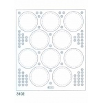 Deco Stickers - Circle Frames: Transparent Silver