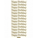 Deco Stickers - Happy Birthday: Glitter Black