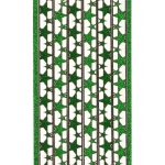 Deco Stickers - Star Border: Glitter Green