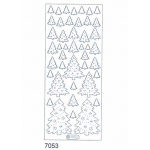 Deco Stickers - Christmas Trees: Holographic Gold