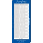 Deco Stickers - Wavy Lines Borders: Glitter Blue
