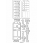 Deco Stickers - Doors: Silver