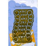 Alphabet Embossing Stencil with Circles