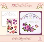 Ann's Paper Art Ann Paper Embroidery Pattern - Rose Romantic