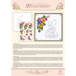 Ann's Paper Art Ann Paper Embroidery Pattern - Summer Pansies