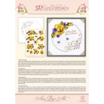 Ann's Paper Art Ann Paper Embroidery Pattern - Yellow Rose