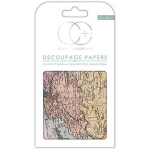 World Map Decoupage Papers