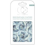 Blue Rose Med Decoupage Papers