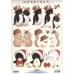 3D Precut Morehead - Christmas Penguins & Hedgehogs