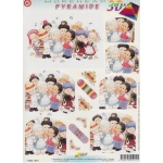 3D Precut Morehead Pyramid Nation kids singing