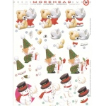 3D Precut Morehead Snowman, Ted/Kitty & Clown