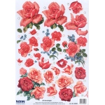 Reddy  Die Cut 3D - Red Roses
