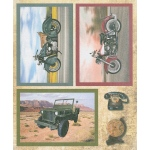 3D Precut - Motorcycles & Jeep - 2 sheets