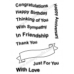 Frantic Stamper Clear Stamp Set - Wavy Banners and Greetings