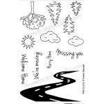 Frantic Stamper  Clear Stamp Set - On The Village Road