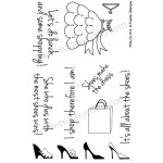 Frantic Stamper Clear Stamp Set - Girl Time