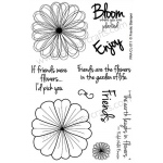 Frantic Stamper Clear Stamp Set - Scribble Flowers #2