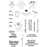 Frantic Stamper Clear Stamp Set - Monster Mash Up
