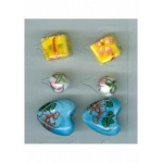 Oriental Embellishments Beads white,yellow,blue