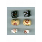 Oriental Embellishments Beads white,yellow,black