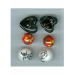 Oriental Embellishments Beads red,white,black