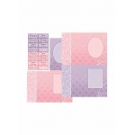 Dufex  Metallic Designercards & Sayings Pink &  Purple
