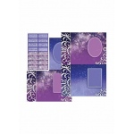Dufex  Metallic Designercards & Sayings - Fantasy Purple And Blue