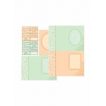 Dufex Metallic DesignerCards & Sayings - Orange and Green