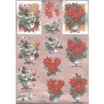 Dufex Pre Cut Decoupage Christmas Poinsettia/Dogwood