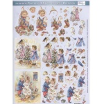 Metallic Precut 3D Winter Children 1