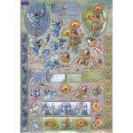 Metallic Precuts 3D Sheet Flower Fairies Lavender & Marigold