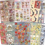 Ecstasy Crafts Dufex Metallic Everday 3D Topper Assortment - 20 Sheets