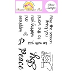 Frantic Stamper  Clear Stamp Set - Joy And Peace